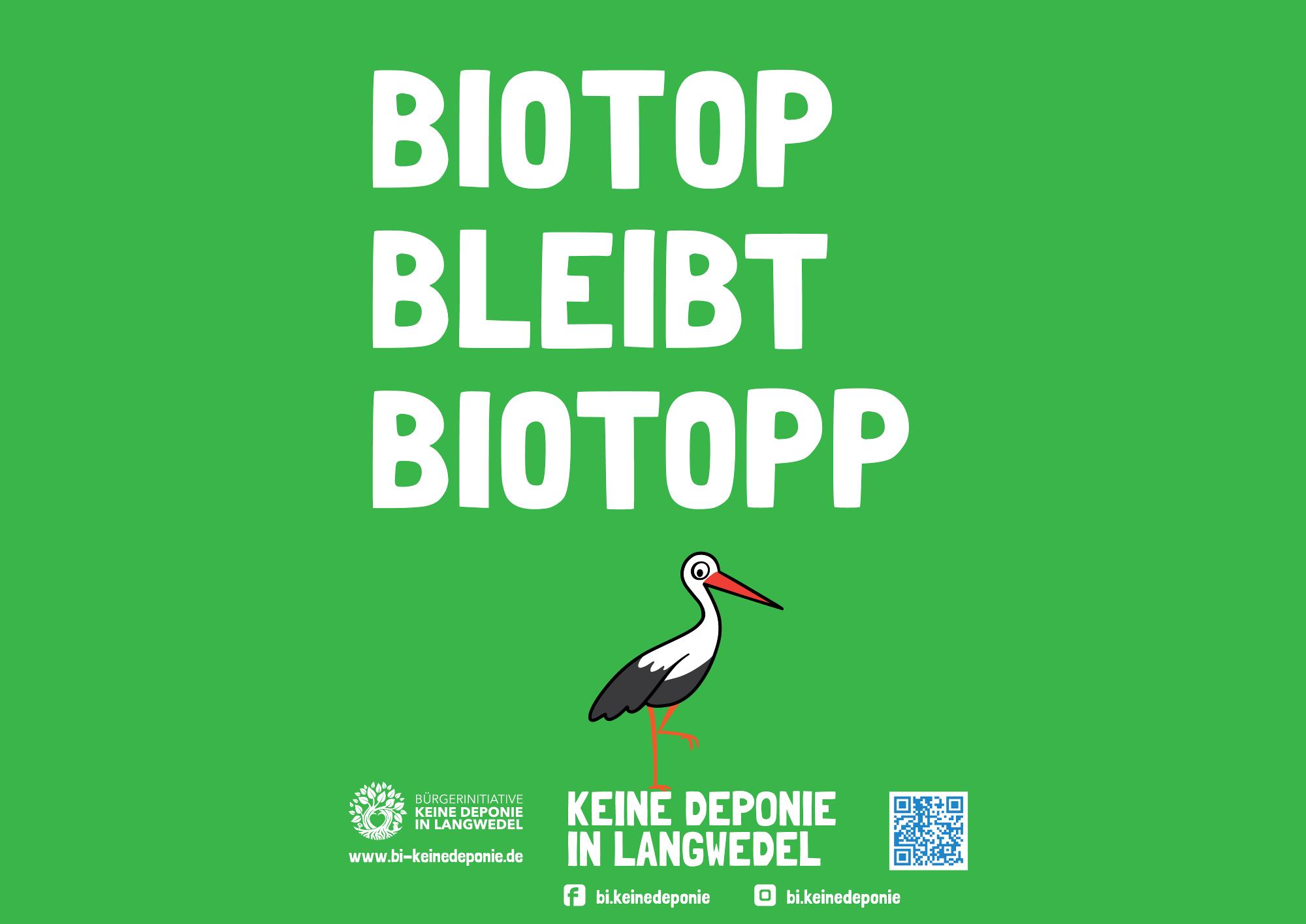Plakat Biotop bleibt Biotopp keine Deponie in Langwedel